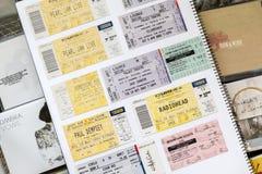 Rock Concert Tickets Stock Image