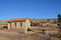 Rock Cottage in small village in Crater of volcano Maragua stock photos