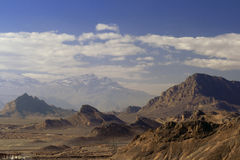 Rock country around Yazd Stock Photography
