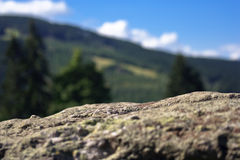 Rock in countryside Royalty Free Stock Photography