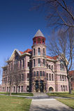 Rock County Courthouse Front. Rock County Courthouse in Luverne Minnesota of Richardsonian Romanesque Revival style constructed of Sioux quartzite stock photo