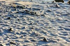 Rock Cracking Ice, Lofoten Islands, Norway Stock Photos