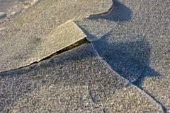 Rock Cracking Ice, Lofoten Islands, Norway Royalty Free Stock Image