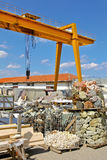 Rock crane industry Stock Photos