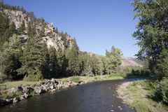 Rock Creek Montana Arkivfoton