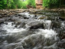 Rock Creek monte en cascade l'Illinois Photos stock