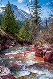 Rock Creek rosso con il picco di Vimy Fotografie Stock Libere da Diritti