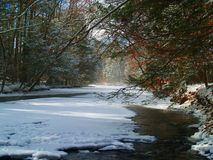 Rock Creek in winter Stock Photography