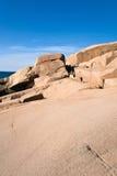 Rock crevice stock image