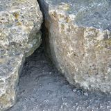Rock crevice. A little rock crevice, I wonder what lives inside Royalty Free Stock Photography