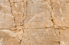 Rock crevices texture Stock Images