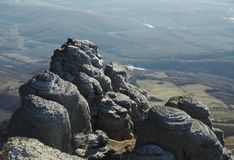 Rock in the Crimean mountain Royalty Free Stock Photo