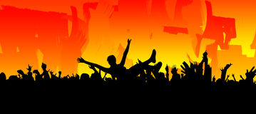 Rock Crowd Surfer Royalty Free Stock Images