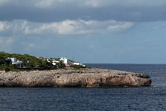 Rock, Cruise Ship from Es Forti, Cala d´Or, Cala Gran, Cala Esmeralda, Cala Ferrera, Cala Marcal to Porto Colom, Majorca Stock Images