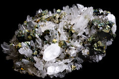 Rock crystal Stock Photo