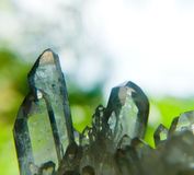 Rock Crystal. Detail of a glimmering rock crystal stock photography