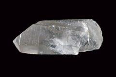 Rock crystal. Rock crystal on black background Royalty Free Stock Photos