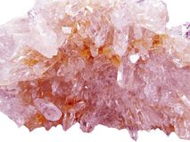 Rock crystal quartz geode geological crystals Stock Photography
