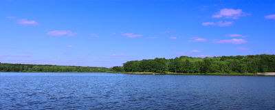 Rock Cut State Park - Illinois. View of Pierce Lake at Rock Cut State Park in northern Illinois royalty free stock photos