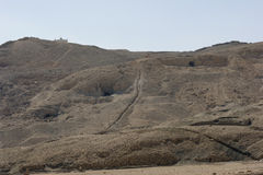Rock cut tomb near Mortuary Temple of Hatshepsut Royalty Free Stock Photo