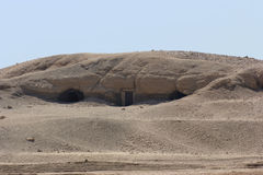 Rock cut tombs in Egypt Royalty Free Stock Photos
