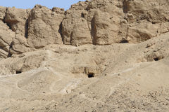 Rock cut tombs in Egypt Royalty Free Stock Images