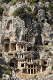 Rock-cut tombs in Myra Royalty Free Stock Photos