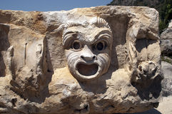Rock-cut tombs in Myra, Demre, Turkey, Scene 2. A series of photos. Rock-cut tombs in Myra, Lycian tombs, near the city of Demre in modern Turkey Stock Photos