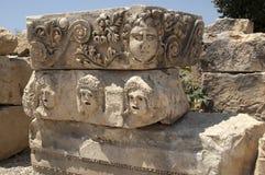 Rock-cut tombs in Myra, Demre, Turkey, Scene 5. A series of photos. Rock-cut tombs in Myra, Lycian tombs, near the city of Demre in modern Turkey Stock Image