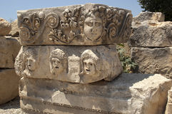 Rock-cut tombs in Myra, Demre, Turkey, Scene 21. A series of photos. Rock-cut tombs in Myra, Lycian tombs, near the city of Demre in modern Turkey Stock Photo
