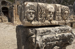 Rock-cut tombs in Myra, Demre, Turkey, Scene 36. A series of photos. Rock-cut tombs in Myra, Lycian tombs, near the city of Demre in modern Turkey Stock Photography