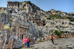 Rock cut tombs of Myra Turkey Royalty Free Stock Image