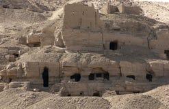 Rock cut tombs near Aswan Royalty Free Stock Photo