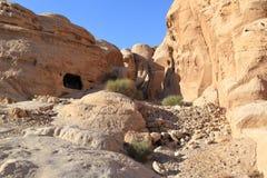 Rock Cut Tombs at Petra Royalty Free Stock Photos