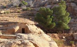 Rock Cut Tombs at Petra Stock Photo