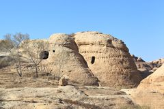 Rock Cut Tombs at Petra Stock Image