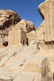 Rock Cut Tombs at Petra Royalty Free Stock Images