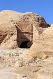 Rock Cut Tombs at Petra Stock Photography