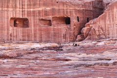 Rock Cut Tombs at Petra Stock Photography