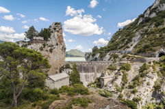 Rock Dam Royalty Free Stock Photo