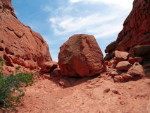 Rock in Desert Stock Photography