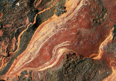 Rock detail. Abstract red rock pattern detail Stock Photos