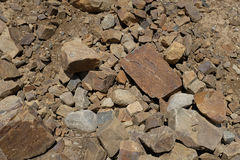 Rock and dirt fill Stock Photography