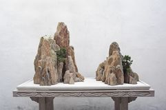 Rock display at the Couple`s Retreat Garden, Suzhou, China. SUZHOU, CHINA - APRIL 2, 2014 - Rock display at the Couple`s Retreat Garden, Suzhou, China Stock Images