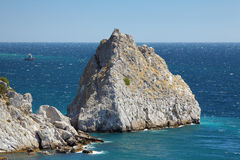 Rock Diva in the town Simeiz in Crimea Royalty Free Stock Image