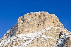 Rock in Dolomites mountain in Val Gardena Stock Photography