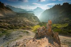 The Rock in Dolomites royalty free stock image