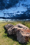 Rock and dramatic sky Stock Photo