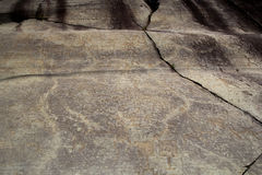 Rock Drawings in Valcamonica, Italy Royalty Free Stock Photo