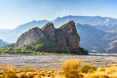 Rock in a dry riverbed in Amendolea, Calabria Stock Photography